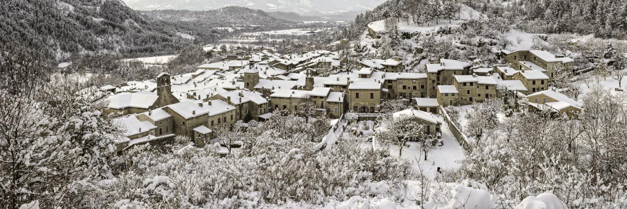 Châtillon-en-Diois en hiver, Vercors