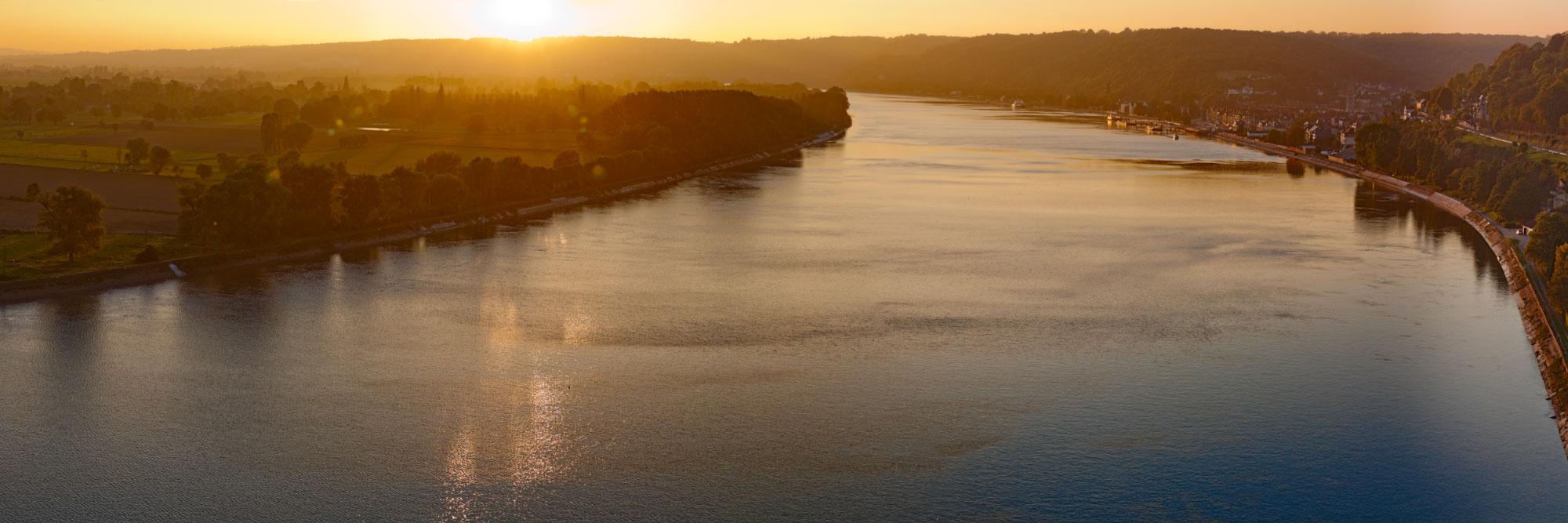 La Seine, vue du pont de Brotonne