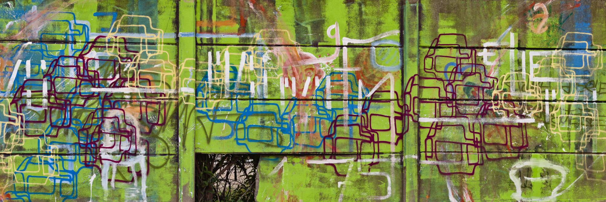 Graff sur une friche industrielle