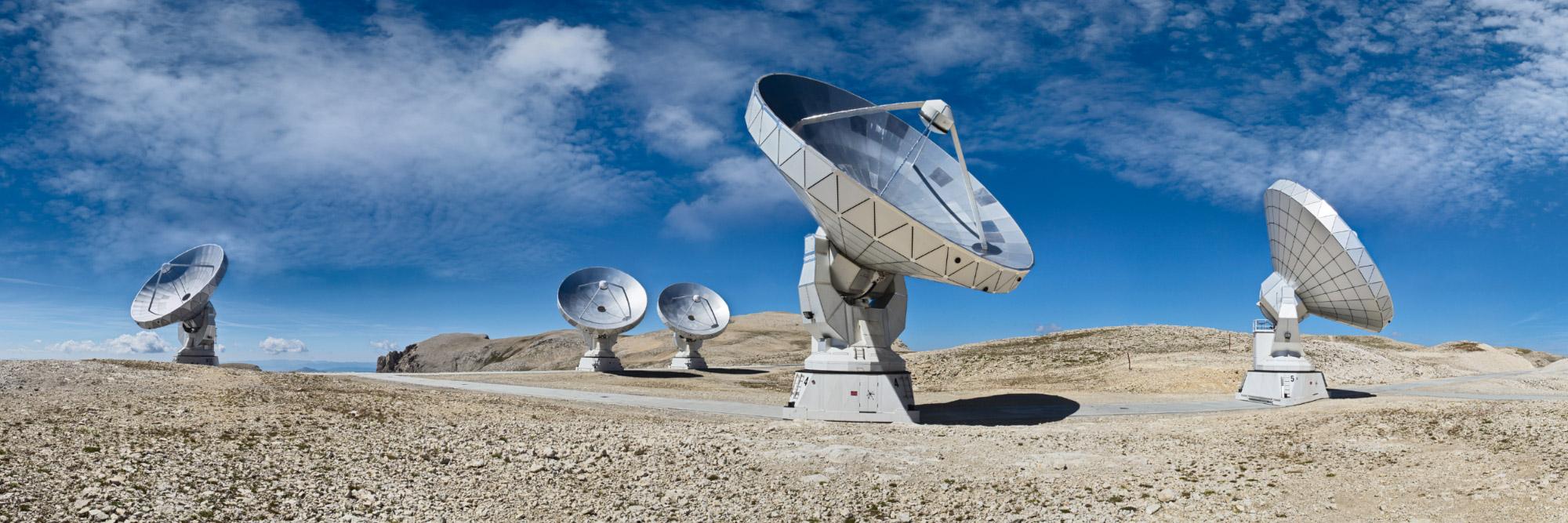 Antennes de radiotélescopes, Plateau de Bure, Dévoluy