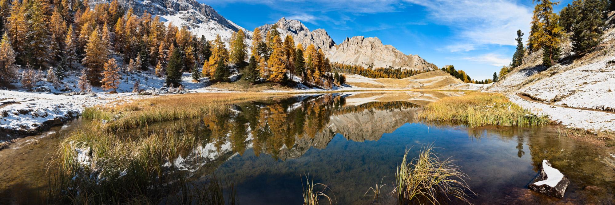 lac miroir ceillac queyras hautes alpes herve sentucq