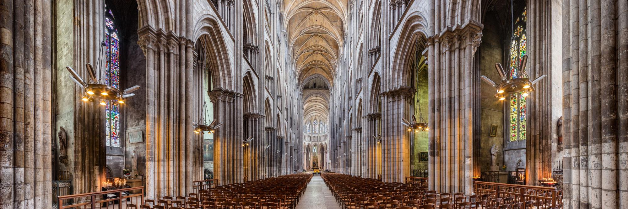 Elévation intérieure de la Cathédrale Notre-Dame de Rouen