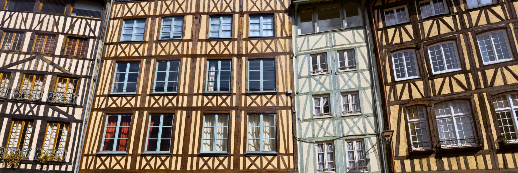 Colombages, rue Eau de Robec, Rouen