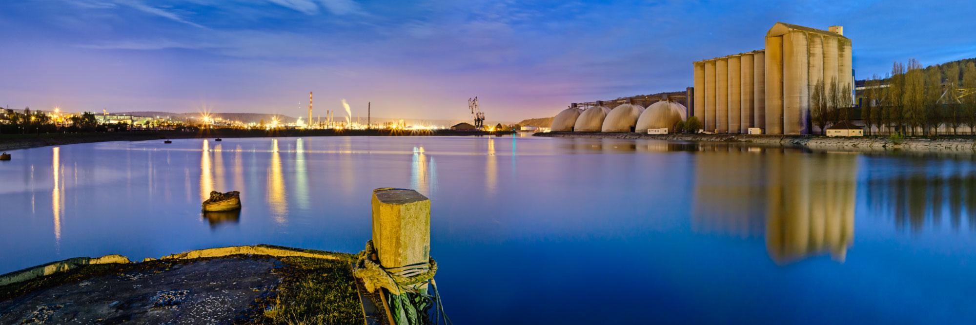Môle de la Darse des Docks, Petit-Couronne, ZI de Rouen
