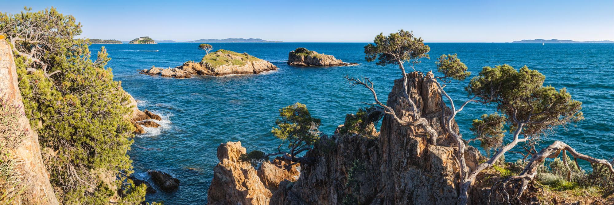 Ilôt de l'Estagnol, Brégançon, côte des Maures, Méditerranée