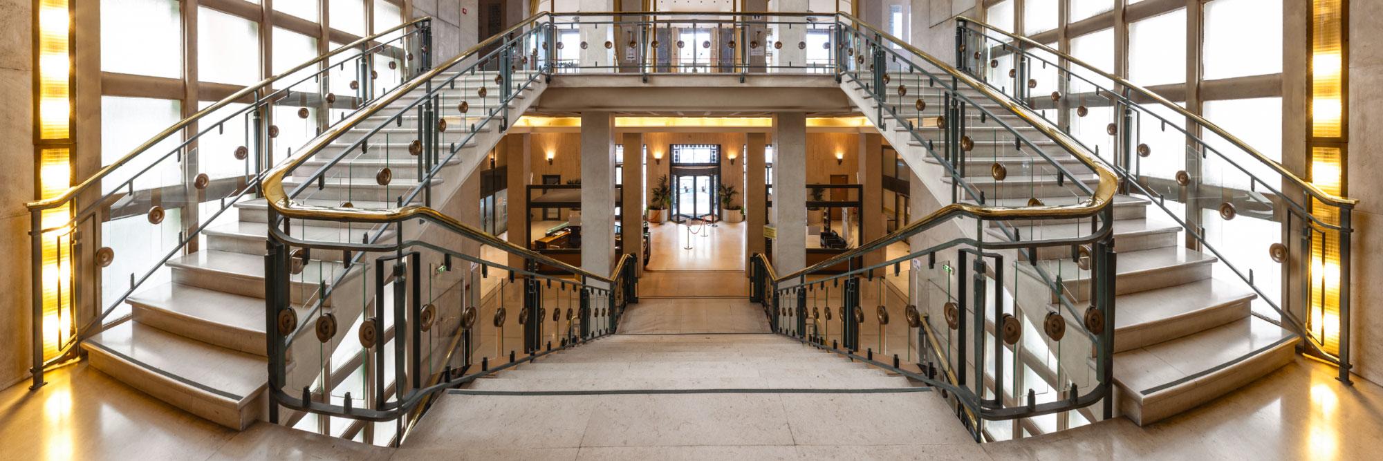 escalier de la cci, rouen, seine-maritime - herve sentucq photo