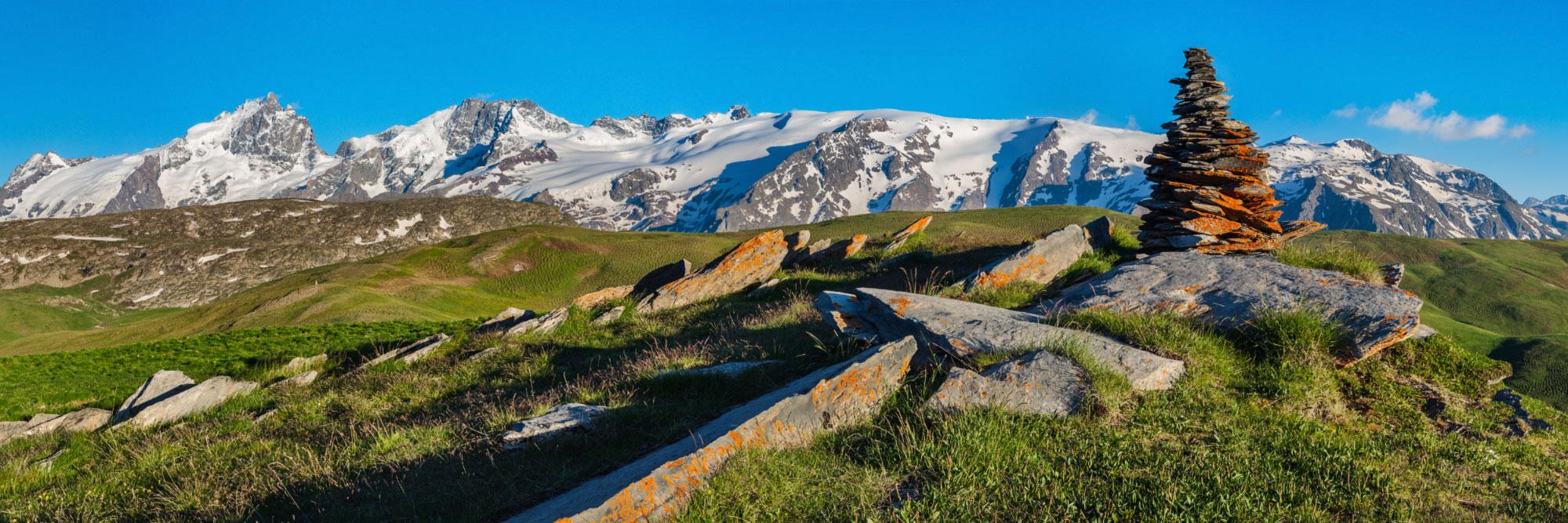 La Meije (Ecrins) vu du plateau d'Emparis