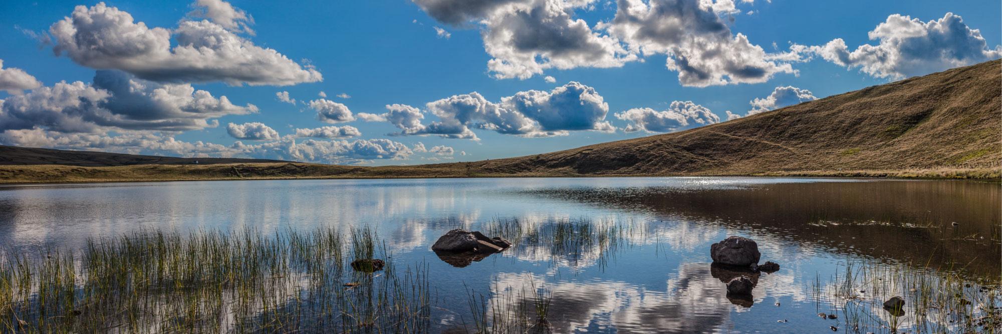 Lac d'en Haut, d'origine volcanique, La Godivelle