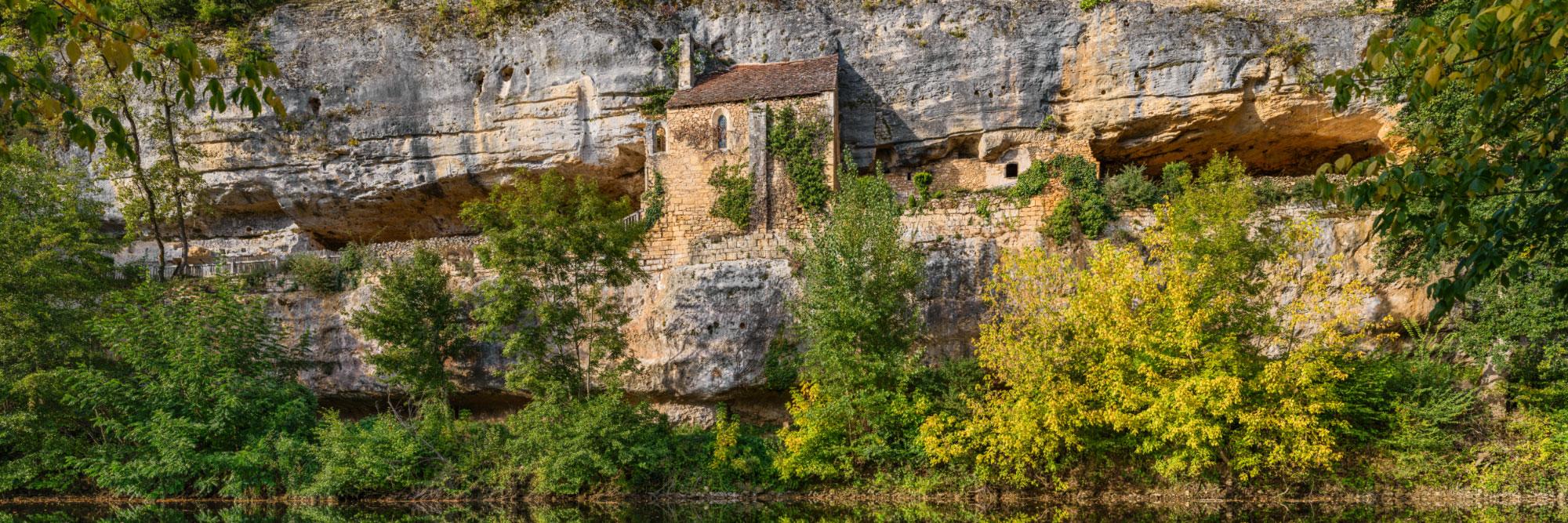 Village troglodytique de la Madeleine au dessus de la Vézère, Tursac