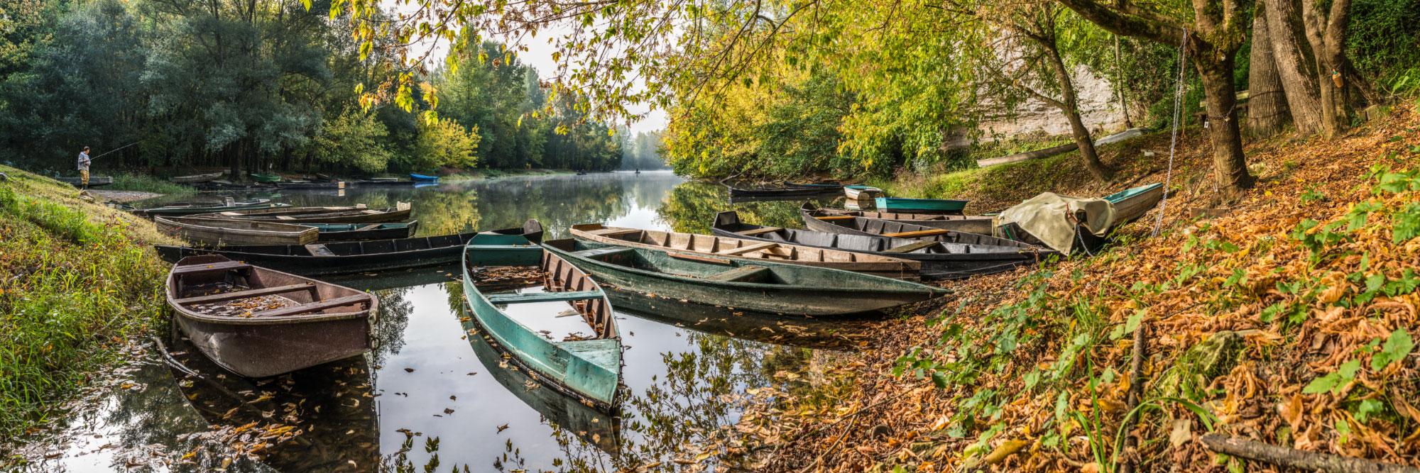 Bras mort de la Dordogne à Aillac