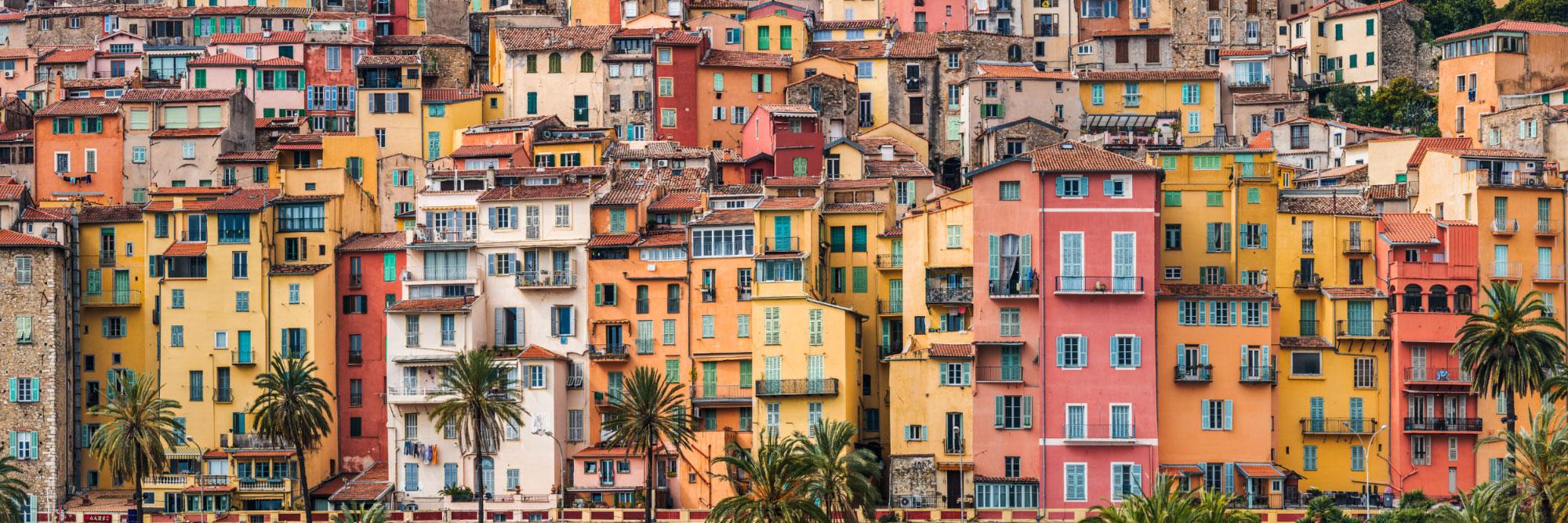 Façades de Menton, Côte d'Azur