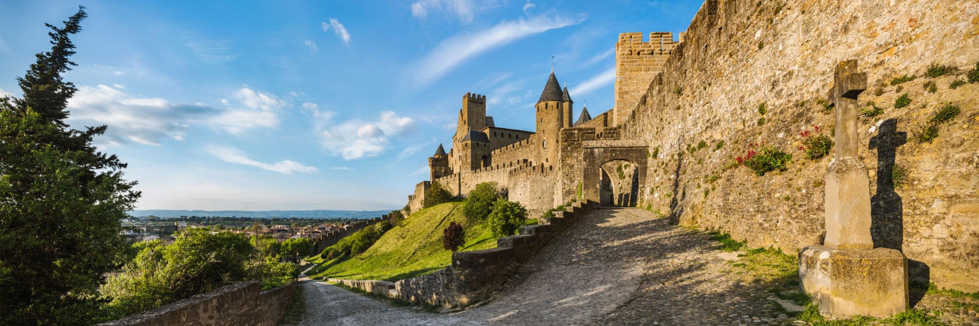 La porte d'Aude, Cité de Carcassonne, pays cathare