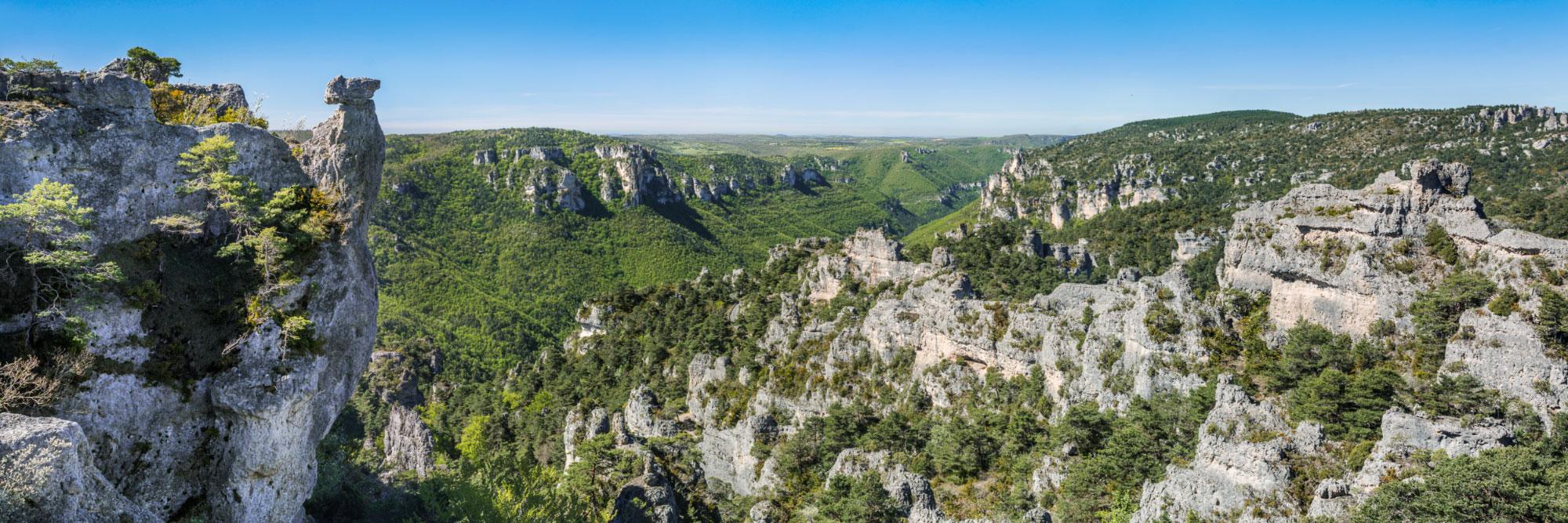 Rochers ruiniformes du chaos de Montpellier-le-Vieux, Causse Noir
