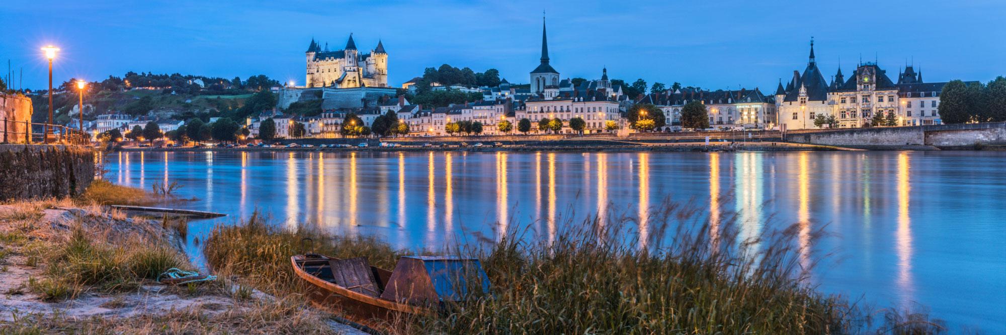 La Loire traversant Saumur