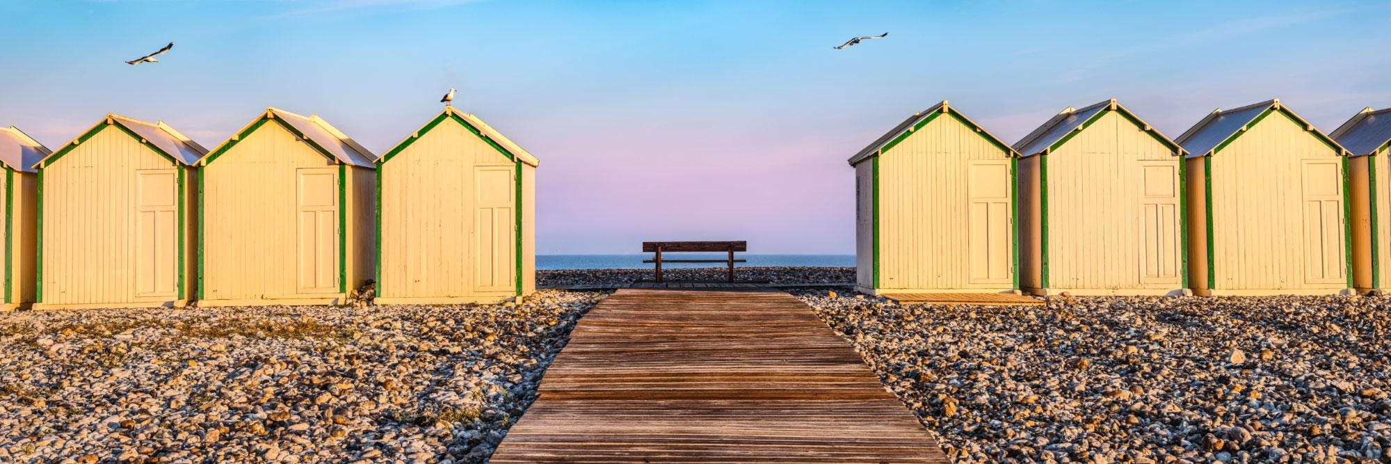 Cabines de bains, Cayeux-sur-Mer, Manche