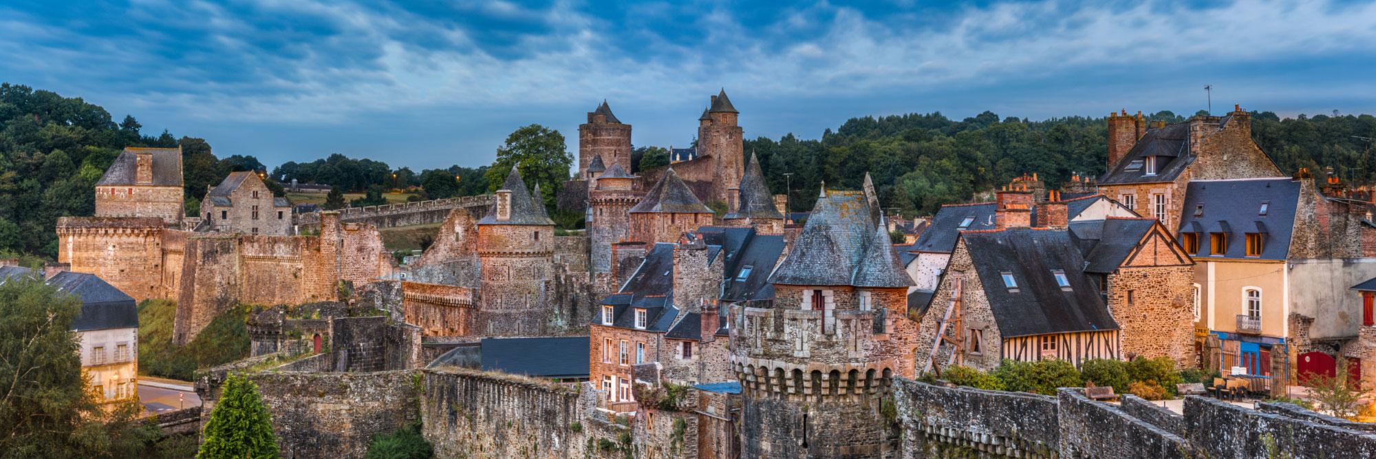 Château de la ville médiévale de Fougères