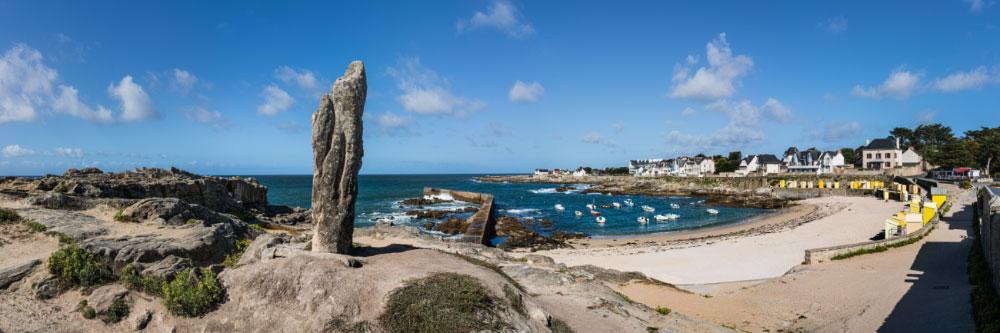 15871 Menhir, plage de Batz-sur-Mer, presqu'île du Croisic, Loire-Atlantique