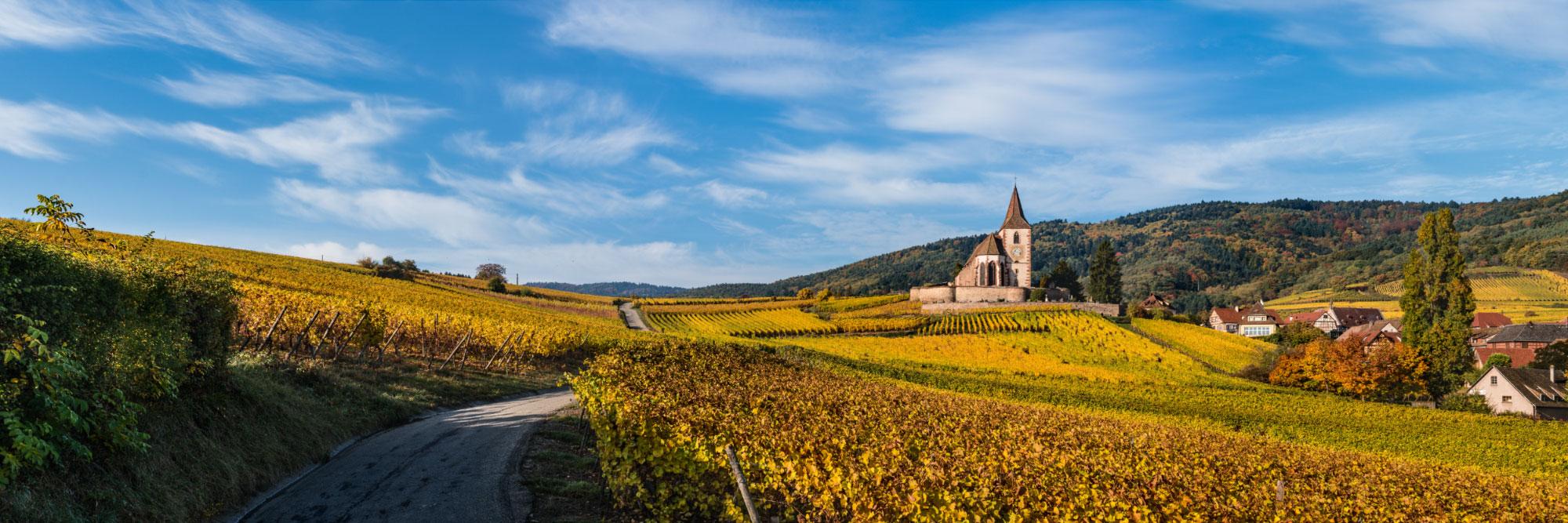 L'église fortifiée de Hunawihr, Alsace
