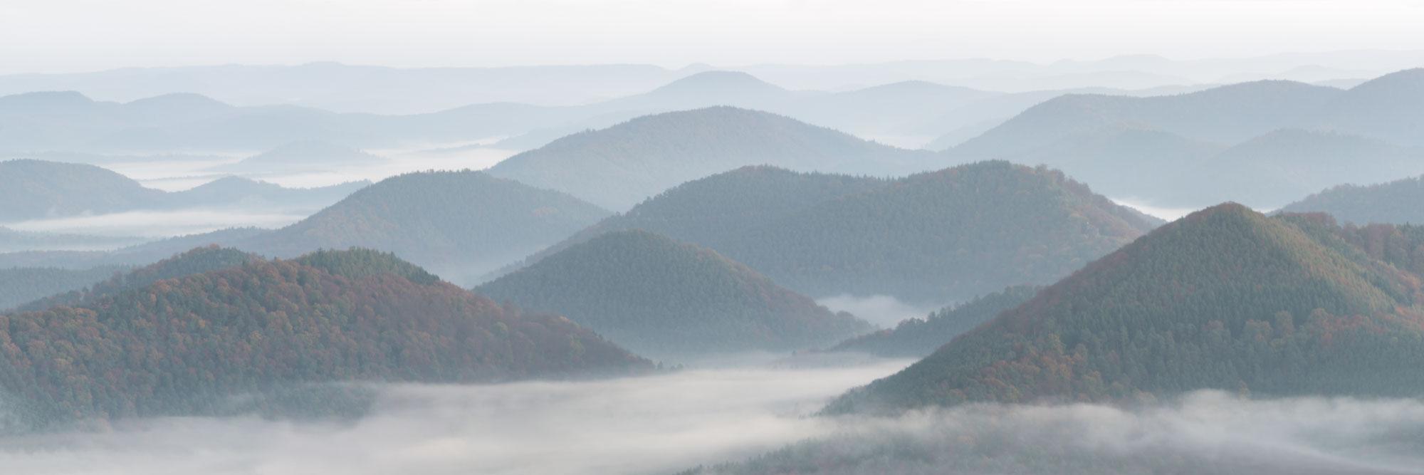 Les Vosges du Nord depuis le belvédère du Grand Wintersberg
