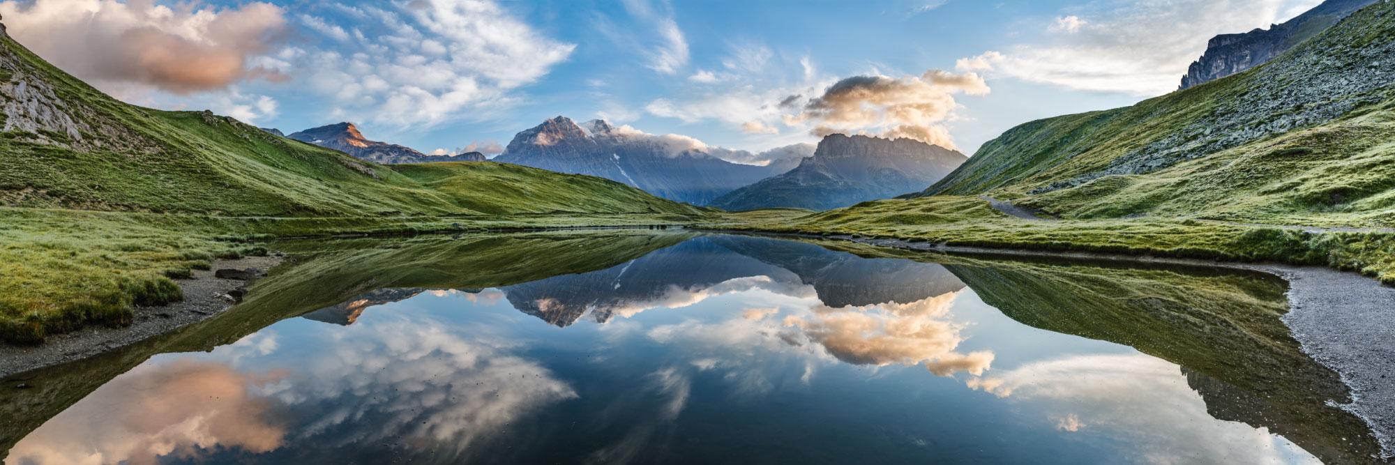 La Grande Casse (3855 m) depuis Plan du Lac, Vanoise