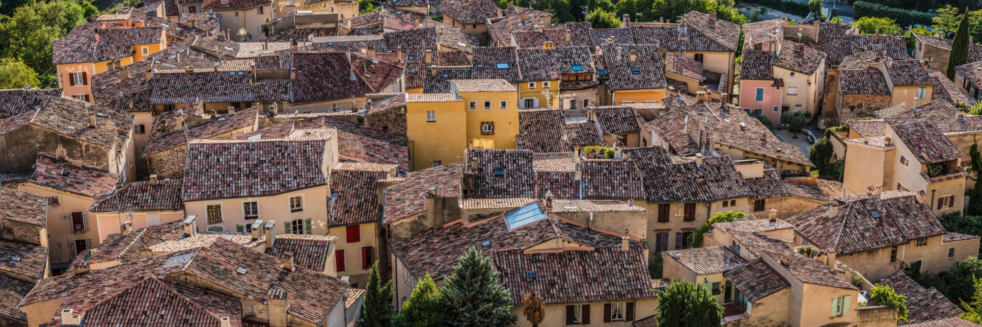 Les toits de Moustiers-Sainte-Marie, Verdon