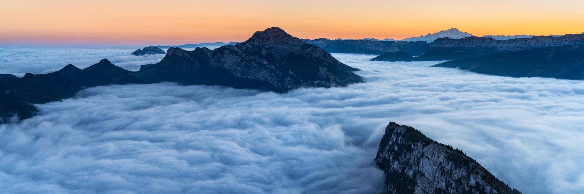 Le Mont-Blanc vu de Charmant-Som, Chartreuse