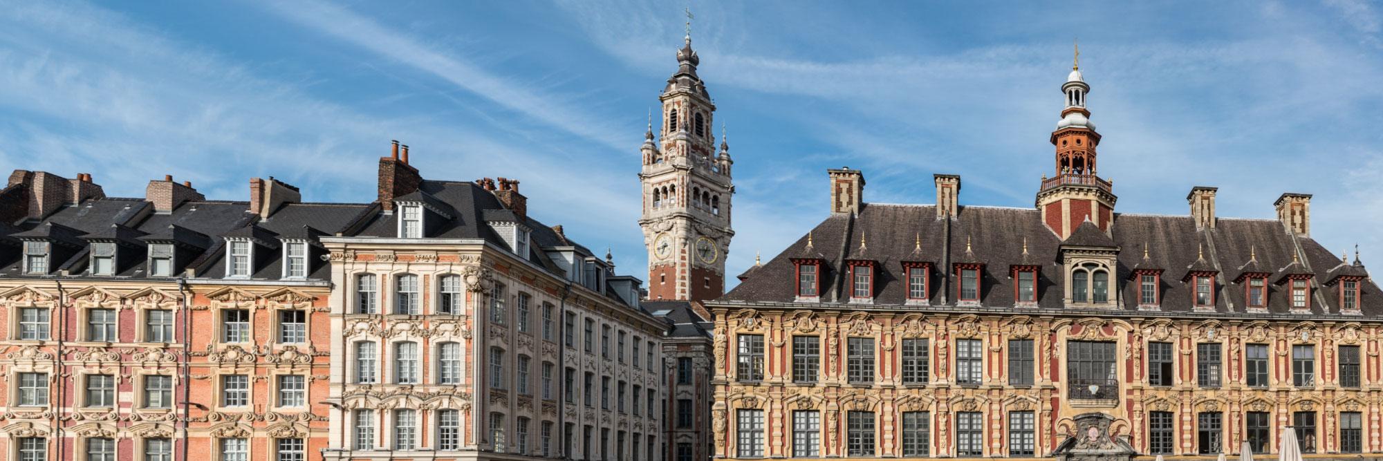 La Vieille Bourse et le Beffroi, Grand'Place de Lille