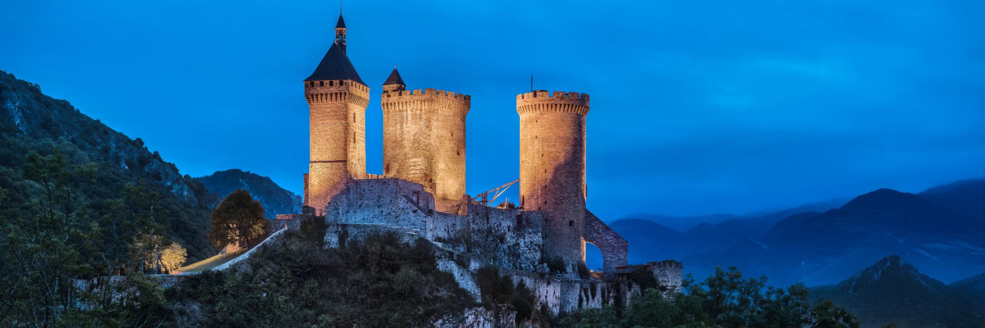 Les trois tours du château de Foix, Pyrénées