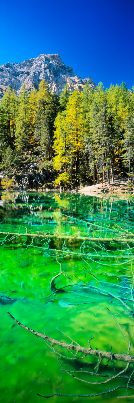 Lac Vert (Lago Verde), Vallée étroite, Massif des Cerces ...